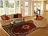 Hossein Abad Red Hand Knotted 610 X 100  Area Rug 100-11094 Thumb 4
