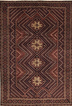 Persian Shahre babak Brown Rectangle 7x10 ft Wool Carpet 11097