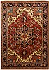 Heriz Red Hand Knotted 69 X 99  Area Rug 100-11108 Thumb 0