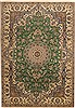 Nain Green Hand Knotted 67 X 99  Area Rug 100-11111 Thumb 0