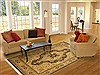 Pak-Persian Beige Hand Knotted 82 X 102  Area Rug 100-11146 Thumb 4
