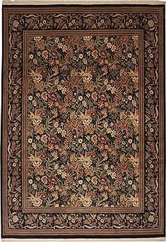 Pakistani Pak-Persian Green Rectangle 10x14 ft Wool Carpet 11165
