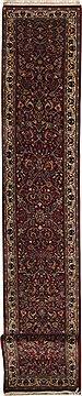 Pakistani Isfahan Red Runner 16 to 20 ft Wool Carpet 11173