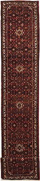 Persian Hossein Abad Red Runner 16 to 20 ft Wool Carpet 11177