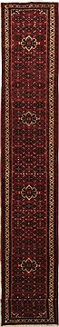 "Persian Hossein Abad  Wool Red Runner Area Rug  (2'4"" x 15'8"") - 100 - 11179"
