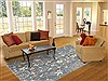 Modern Blue Hand Knotted 60 X 90  Area Rug 100-11181 Thumb 4