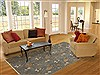 Modern Blue Hand Knotted 60 X 90  Area Rug 100-11183 Thumb 4