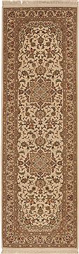 Chinese Sino-Persian Beige Runner 6 to 9 ft Wool Carpet 11192