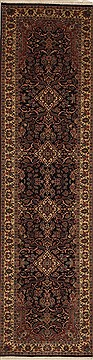 "Bidjar Blue Runner Hand Knotted 2'8"" X 10'1""  Area Rug 100-11202"