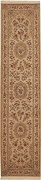 Chinese Sino-Persian Beige Runner 10 to 12 ft Wool Carpet 11212