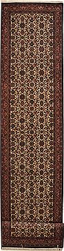 "Bidjar Red Runner Hand Knotted 2'7"" X 13'2""  Area Rug 100-11213"