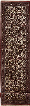 "Bidjar Red Runner Hand Knotted 2'10"" X 13'1""  Area Rug 100-11214"