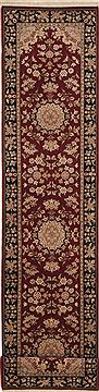 "Sino-Persian Red Runner Hand Knotted 2'6"" X 12'0""  Area Rug 100-11220"