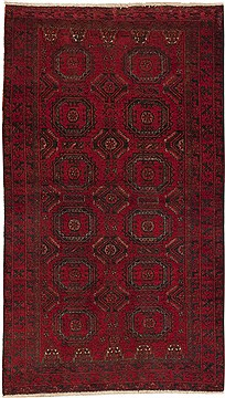 Persian Baluch Red Rectangle 3x5 ft Wool Carpet 11238