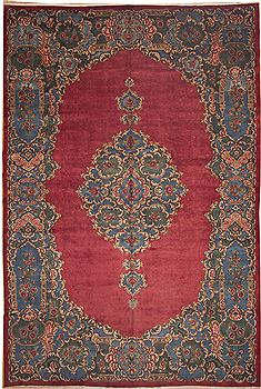Persian Kerman Red Rectangle 11x16 ft Wool Carpet 11242