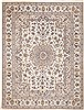 Nain White Hand Knotted 95 X 129  Area Rug 100-11251 Thumb 0