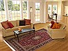 Tabriz Red Hand Knotted 82 X 99  Area Rug 100-11253 Thumb 4