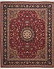 Tabriz Red Hand Knotted 82 X 99  Area Rug 100-11253 Thumb 0