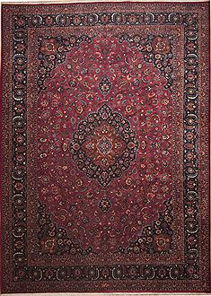 Persian Mashad Red Rectangle 11x16 ft Wool Carpet 11258