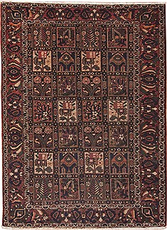 Persian Bakhtiar Multicolor Rectangle 5x7 ft Wool Carpet 11265
