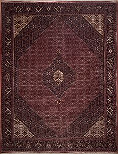 "Bidjar Red Hand Knotted 13'0"" X 16'11""  Area Rug 100-11285"