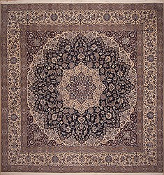 "Nain Blue Square Hand Knotted 13'9"" X 14'2""  Area Rug 100-11286"