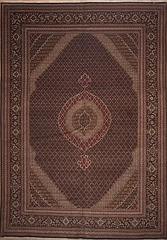 "Tabriz Brown Hand Knotted 11'3"" X 16'0""  Area Rug 100-11290"