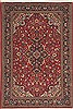 Qum Red Hand Knotted 47 X 66  Area Rug 100-11293 Thumb 0