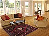 Hamedan Red Hand Knotted 50 X 78  Area Rug 100-11309 Thumb 4