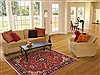 Sarouk Red Hand Knotted 43 X 63  Area Rug 100-11310 Thumb 5