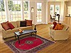Kashan Red Hand Knotted 47 X 78  Area Rug 100-11313 Thumb 4