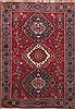 Shiraz Red Hand Knotted 49 X 68  Area Rug 100-11322 Thumb 0