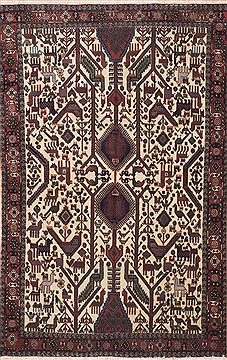 Persian Shahre babak Beige Rectangle 5x7 ft Wool Carpet 11324