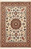 Tabriz White Hand Knotted 33 X 41  Area Rug 100-11350 Thumb 0