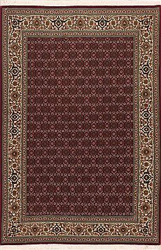 "Tabriz Red Hand Knotted 3'3"" X 5'0""  Area Rug 100-11366"