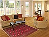 Turkman Red Hand Knotted 48 X 68  Area Rug 100-11395 Thumb 5