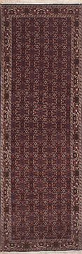 "Bidjar Purple Runner Hand Knotted 3'1"" X 9'9""  Area Rug 100-11453"
