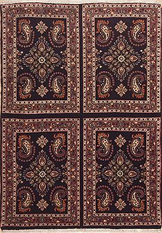 "Bidjar Brown Hand Knotted 3'6"" X 5'0""  Area Rug 100-11457"
