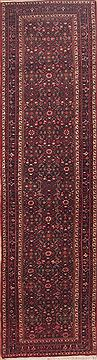 Persian Hamedan Red Runner 13 to 15 ft Wool Carpet 11461