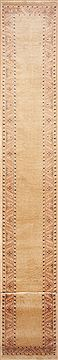 "Pishavar Yellow Runner Hand Knotted 2'0"" X 21'6""  Area Rug 100-11467"
