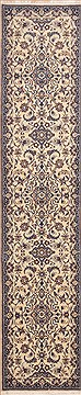 "Nain Beige Runner Hand Knotted 2'0"" X 9'6""  Area Rug 100-11469"