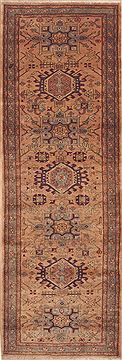 "Ardebil Purple Runner Hand Knotted 3'0"" X 10'3""  Area Rug 100-11481"