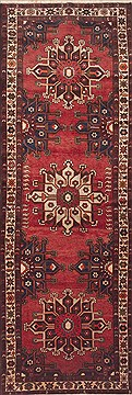 "Mussel Red Runner Hand Knotted 3'8"" X 11'6""  Area Rug 100-11485"