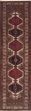 Persian Sarab Brown Runner 10 to 12 ft Wool Carpet 11486