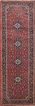 "Ardakan Purple Runner Hand Knotted 3'3"" X 9'9""  Area Rug 100-11494"