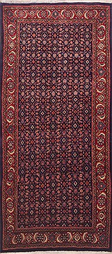 "Mahal Blue Runner Hand Knotted 4'0"" X 9'7""  Area Rug 100-11498"