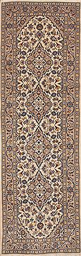 "Ardakan Beige Runner Hand Knotted 3'3"" X 10'2""  Area Rug 100-11503"