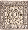 Nain White Square Hand Knotted 67 X 67  Area Rug 100-11508 Thumb 0