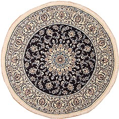 "Nain White Round Hand Knotted 6'0"" X 6'0""  Area Rug 100-11519"