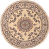 Nain Blue Round Hand Knotted 63 X 63  Area Rug 100-11520 Thumb 0
